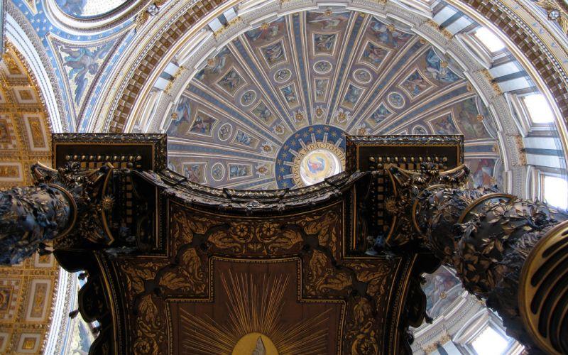 Architecture Interior St_ Peter's Basilica Rome Vatican wallpaper