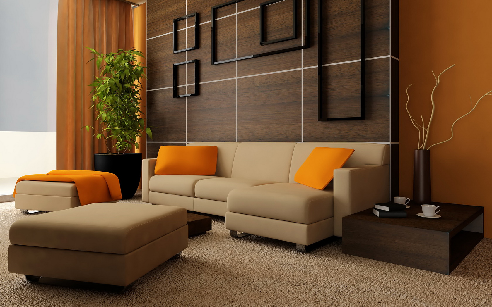 Architecture interior design living room wallpaper for Interior design living room wallpaper