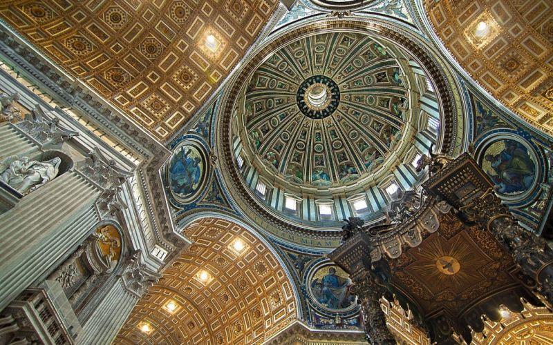 Architecture Interior St_ Peter's Basilica Vatican City wallpaper