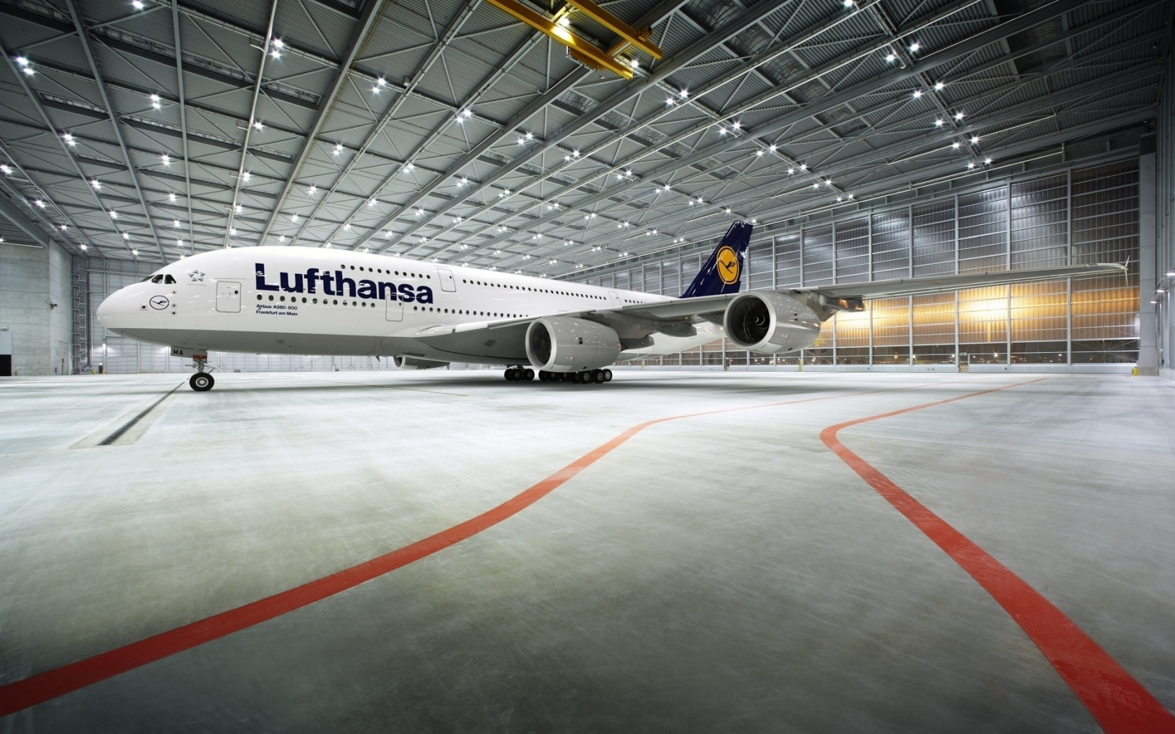 commercial aircraft lufthansa wallpaper 1680x1050 121507 wallpaperup. Black Bedroom Furniture Sets. Home Design Ideas