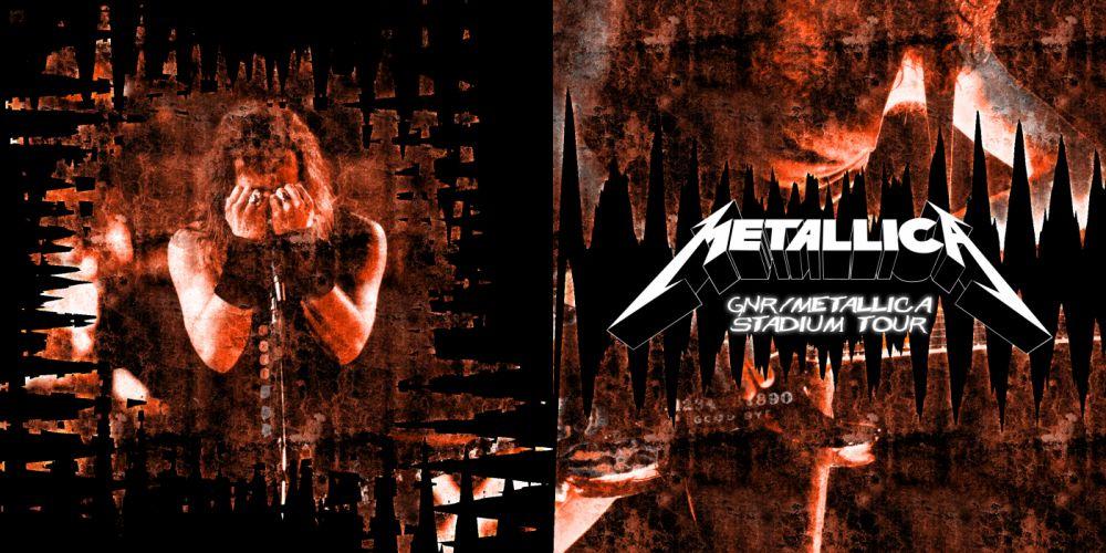 METALLICA thrash metal heavy album cover art concert concerts microphone guitar guitars te wallpaper