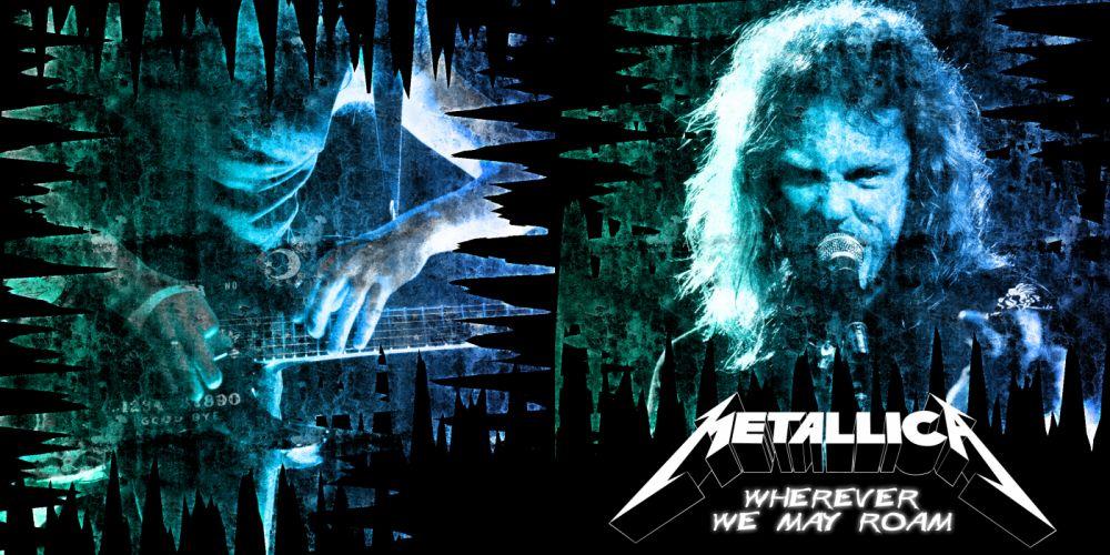 METALLICA thrash metal heavy album cover art poster posters concert concerts microphone guitar guitars rw wallpaper