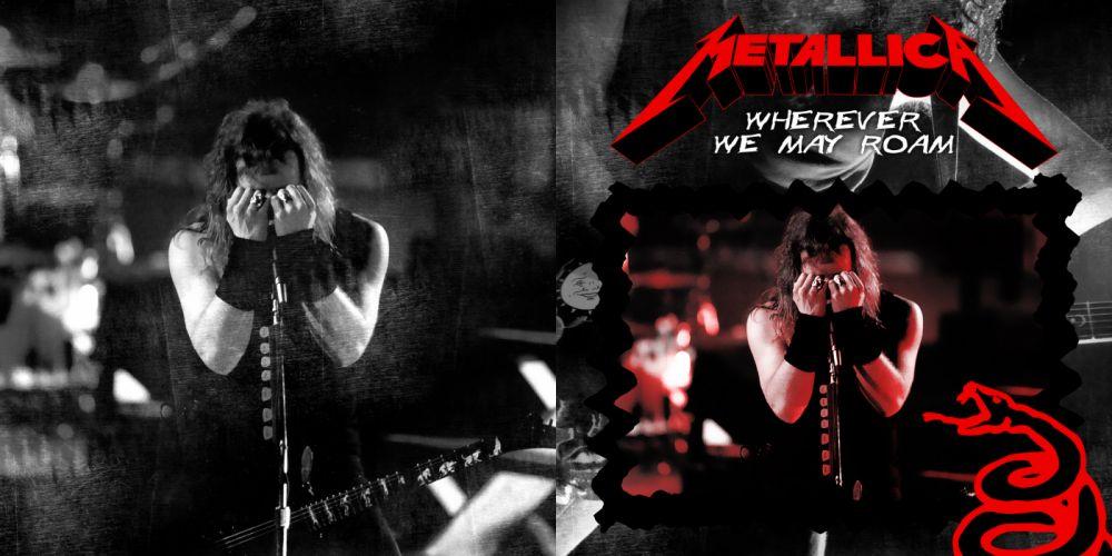 METALLICA thrash metal heavy album cover art poster posters concert concerts microphone guitar guitars r wallpaper