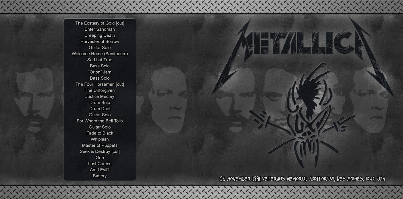METALLICA thrash metal heavy album cover art posters poster     g wallpaper
