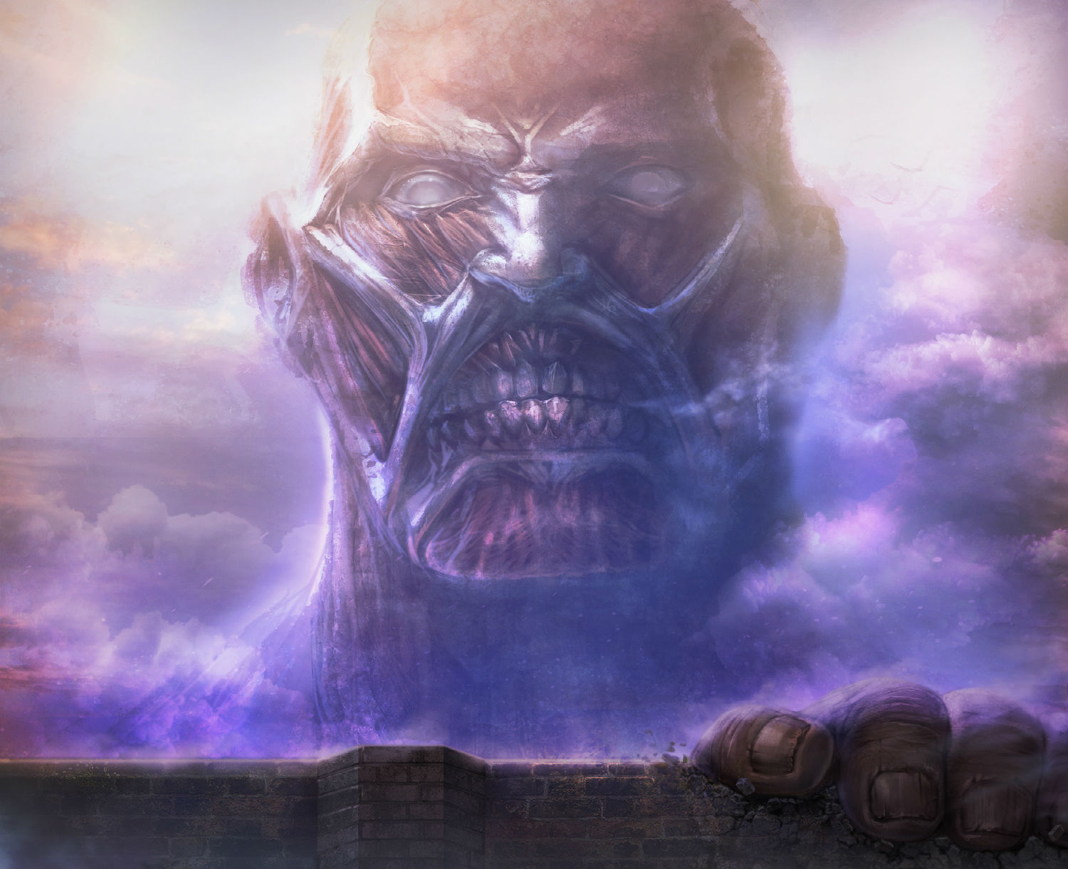Shingeki No Kyojin Colossal Titan Hj Wallpaper 1500x1220 121783 Wallpaperup
