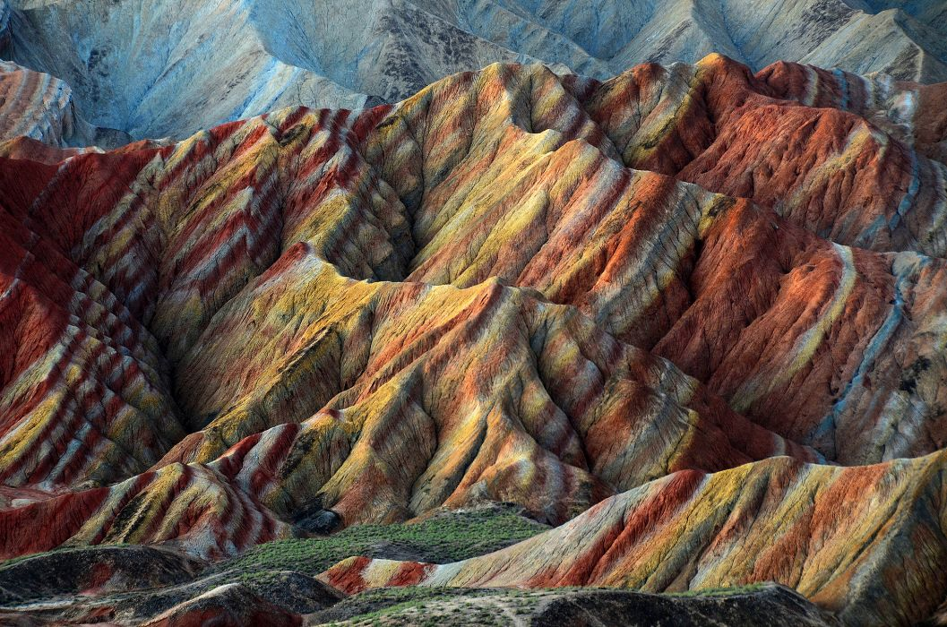 nature Danxia landform China precipitation hills wallpaper