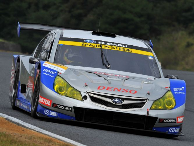 2009 Subaru Legacy B-4 GT300 race racing wallpaper