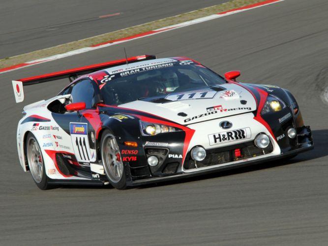 2009 GAZOO-Racing Lexus LF-A 24-hour Nurburgring race racing tuning gd wallpaper