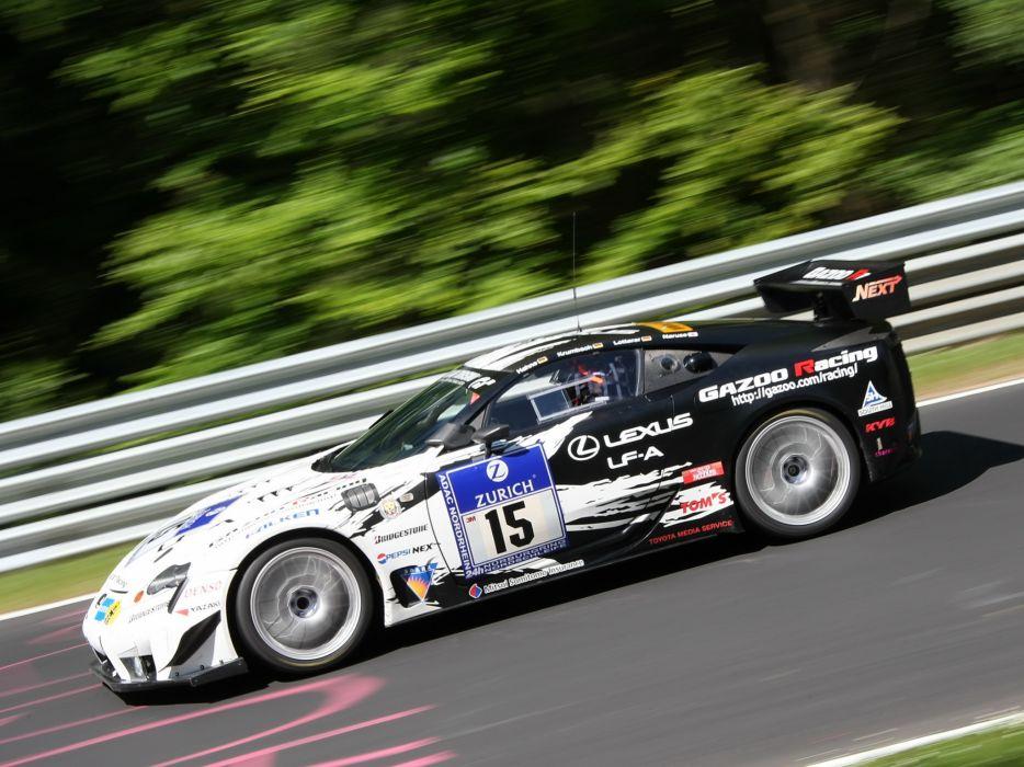 2009 GAZOO-Racing Lexus LF-A 24-hour Nurburgring race racing tuning   gw wallpaper