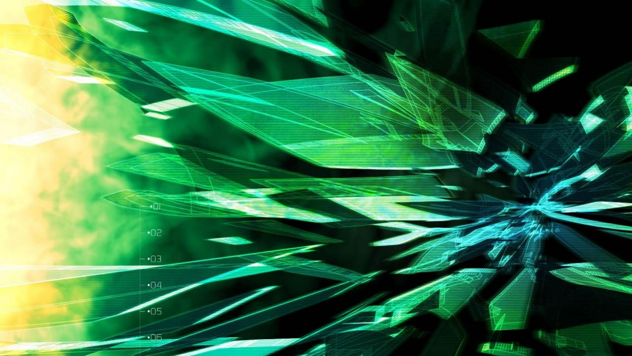 abstract green techno wallpaper