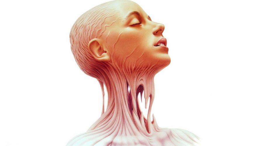 anatomy human body face girl wallpaper