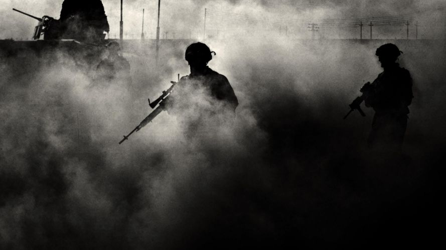 army military soldiers monochrome sniper wallpaper