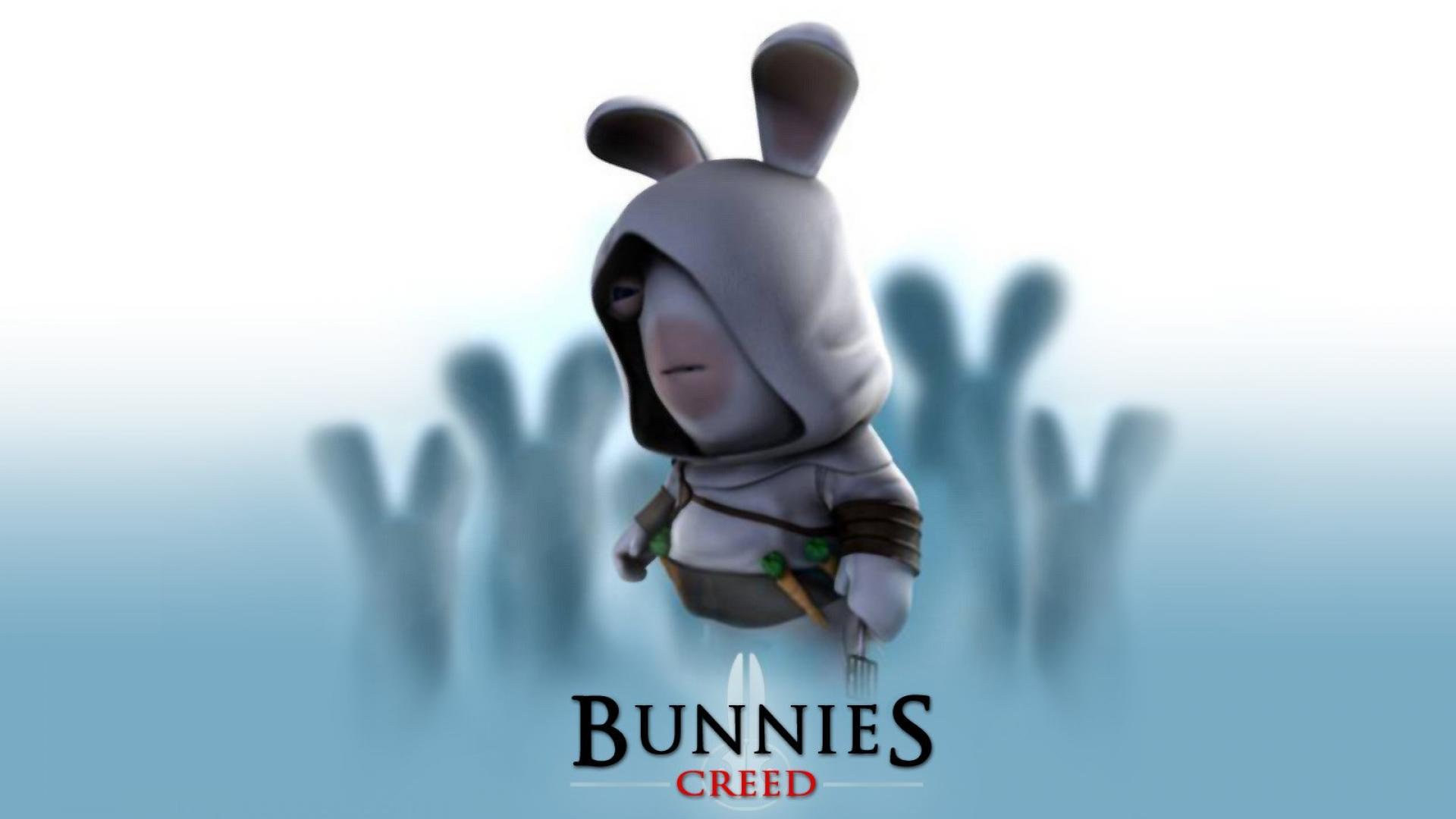 Bunny Bunnies Creed Funny Humor Wallpaper