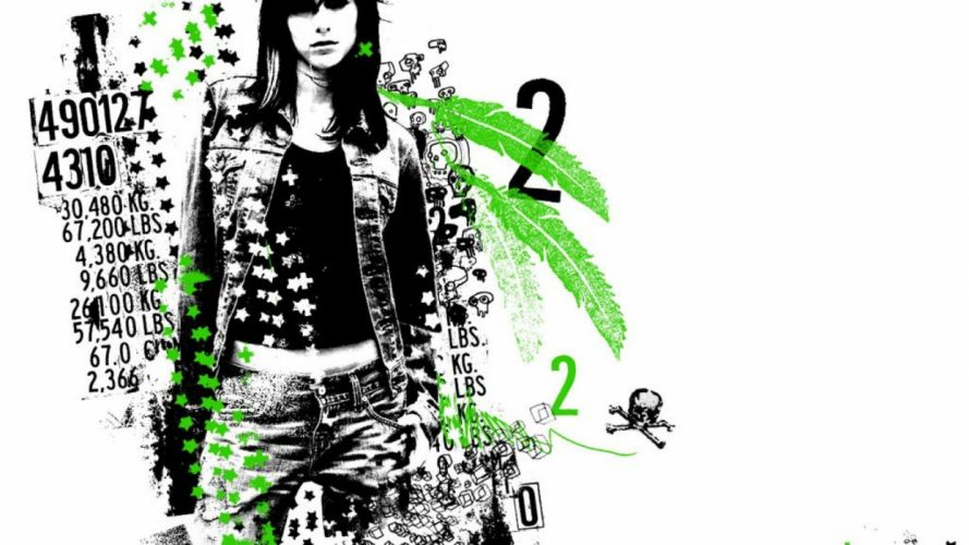 fashion model girl abstract patterns weed wallpaper