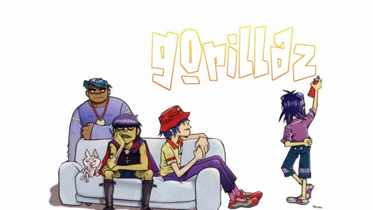 gorillaz music band cartoon wallpaper