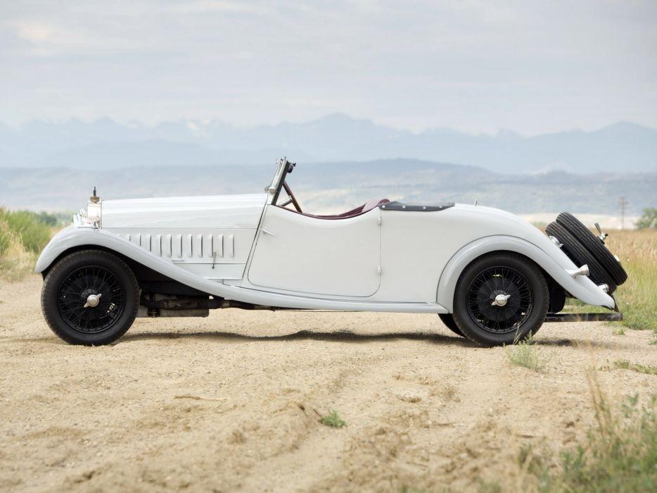 1928 Bugatti Type-44 Cabriolet U-K retro   f wallpaper