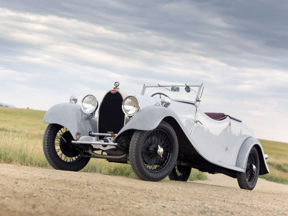 1928 Bugatti Type-44 Cabriolet U-K retro wallpaper