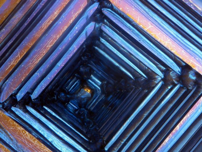 abstract science crystals minerals element iridescence bismuth Industry Science wallpaper