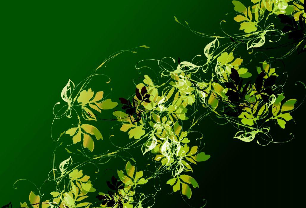 abstraction 3d art leaves leaf bokeh wallpaper