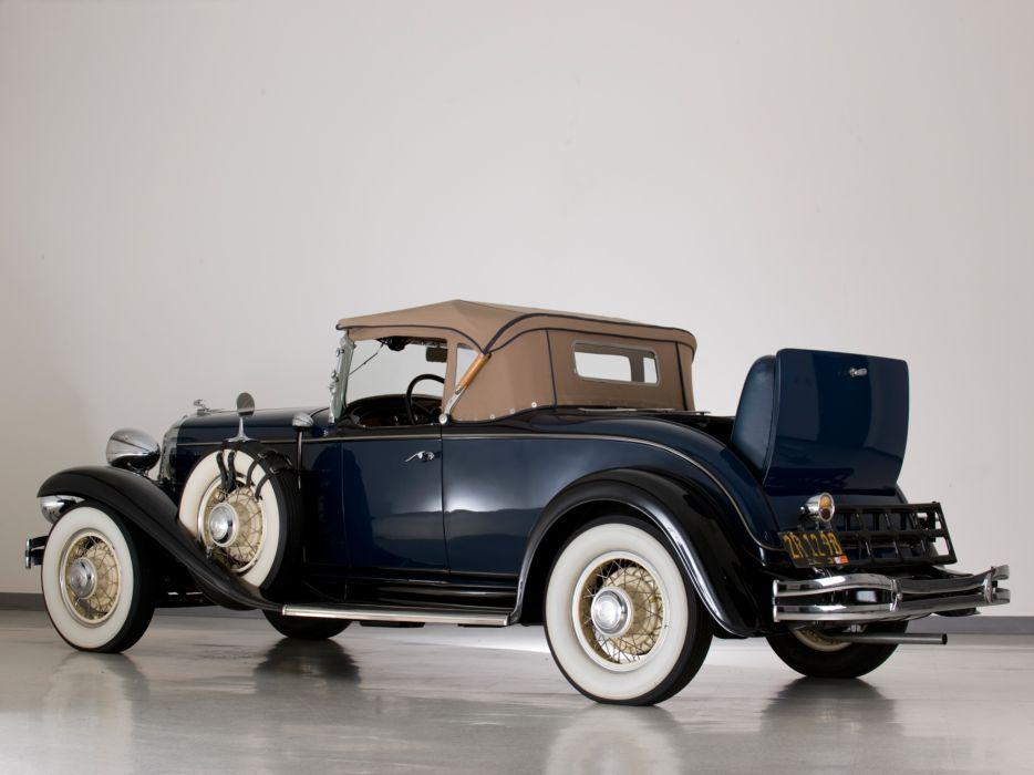 1931 Chrysler C-D Deluxe Eight Roadster retro   d wallpaper