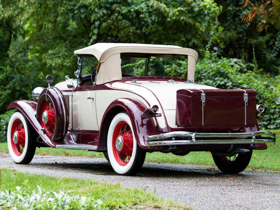 1931 Chrysler C-M New Six Roadster retro    d wallpaper