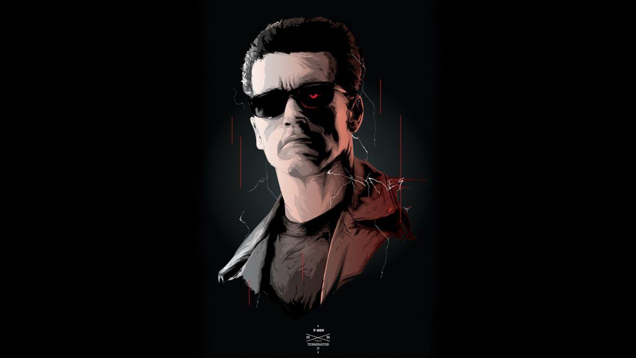Arnold Schwarzenegger Terminator Black Cyborg Robot wallpaper