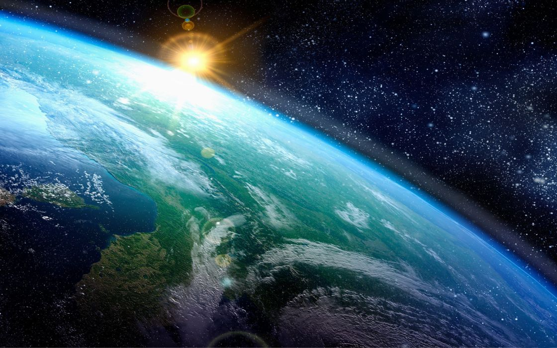 Wallpaper sunlight night planet reflection sky clouds Earth