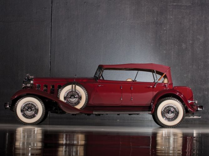 1933 Chrysler Imperial Dual Windshield Sport Phaeton luxury retro wallpaper