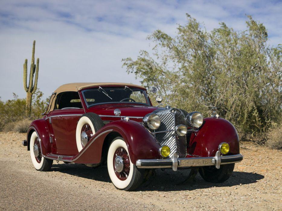 1938 Mercedes Benz 540K Cabriolet A retro luxury   h wallpaper