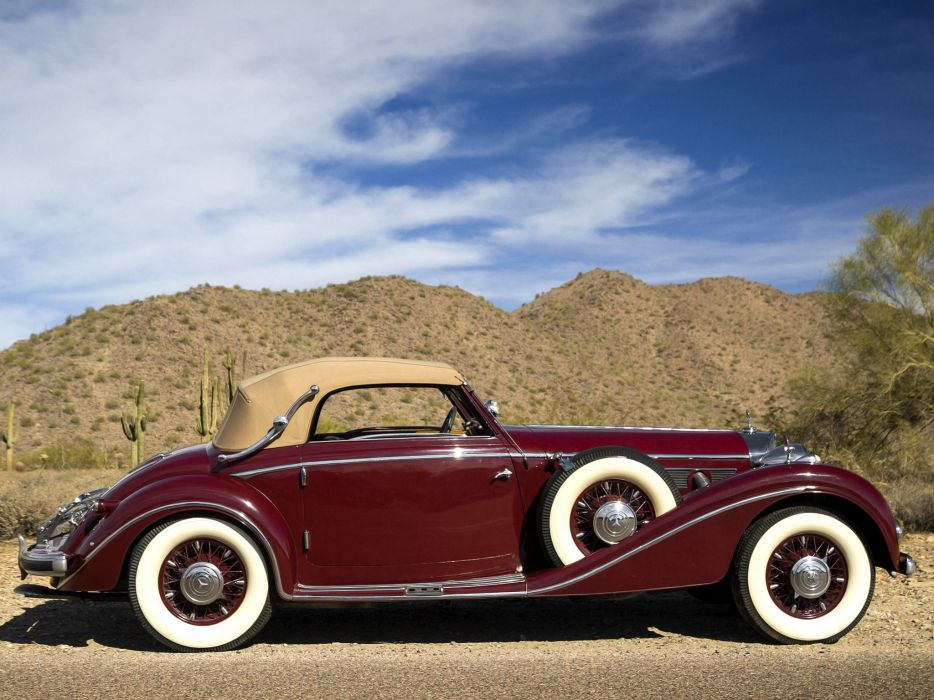 1938 Mercedes Benz 540K Cabriolet A retro luxury  e wallpaper