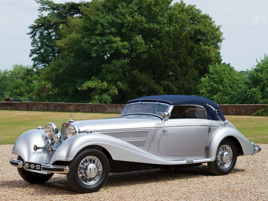 1938 Mercedes Benz 540K Cabriolet A retro luxury f wallpaper