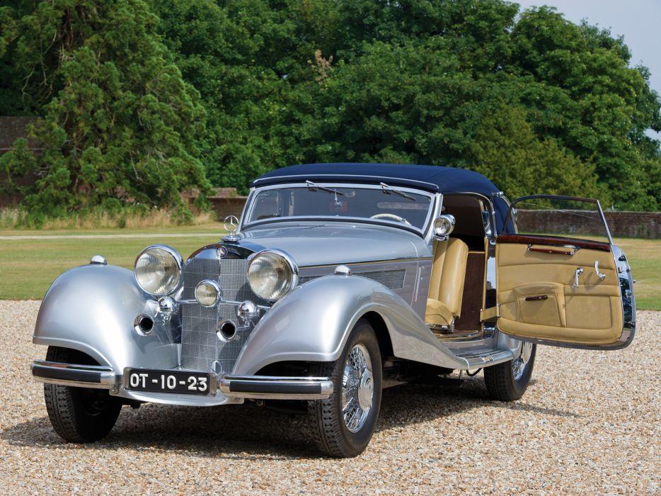 1938 Mercedes Benz 540K Cabriolet A retro luxury interior       f wallpaper