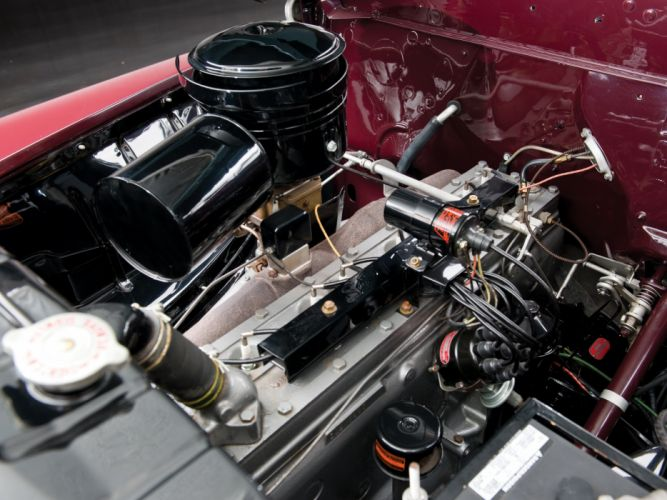 1946 Chrysler Town Country Convertible C-39N retro engine engines f wallpaper