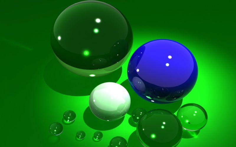 balls green background 3-d bokeh wallpaper