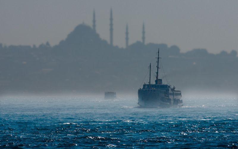 Boat Ocean Istanbul wallpaper