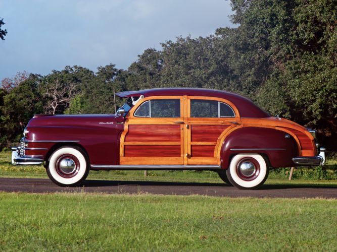 1947 Chrysler Town Country Sedan retro d wallpaper