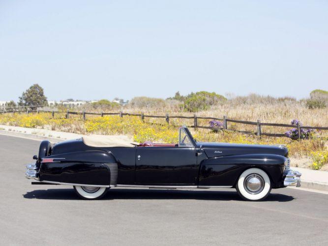 1947 Lincoln Continental Cabriolet retro f wallpaper