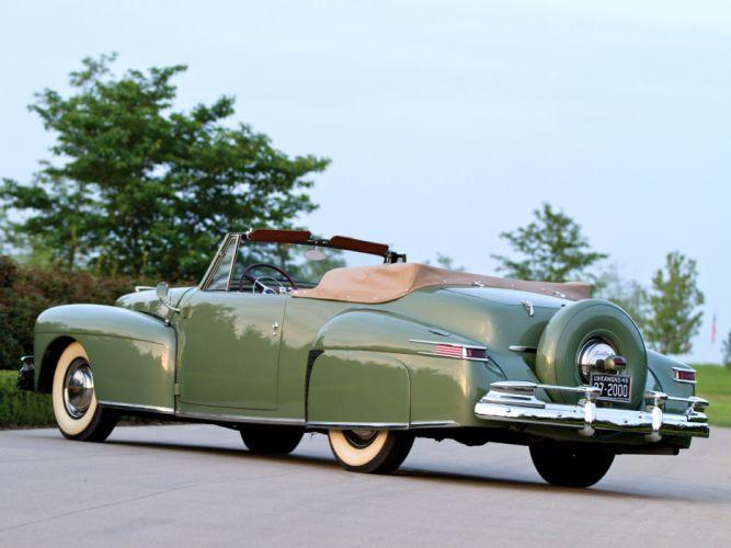 1947 Lincoln Continental Cabriolet retro luxury f wallpaper
