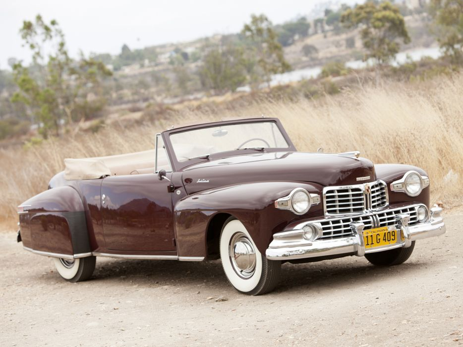 1947 Lincoln Continental Cabriolet retro wallpaper