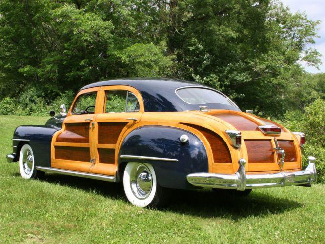 1948 Chrysler Town Country Sedan retro d wallpaper