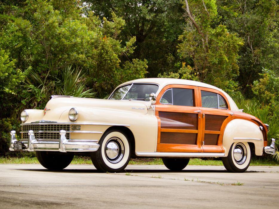 1948 Chrysler Town Country Sedan retro wallpaper