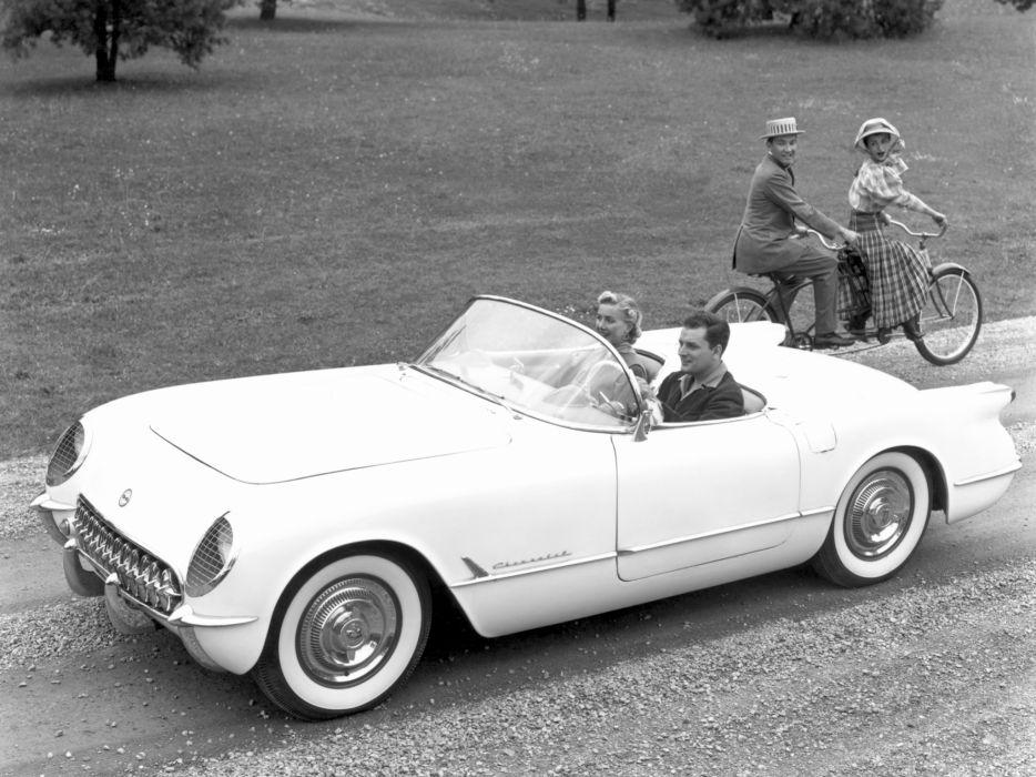 1953 Chevrolet Corvette C1 retro supercar supercars muscle     g wallpaper