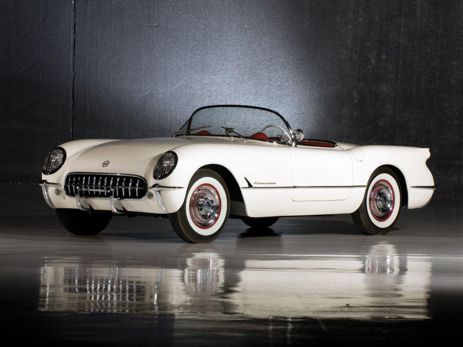 1953 Chevrolet Corvette C-1 retro supercar supercars muscle  f wallpaper