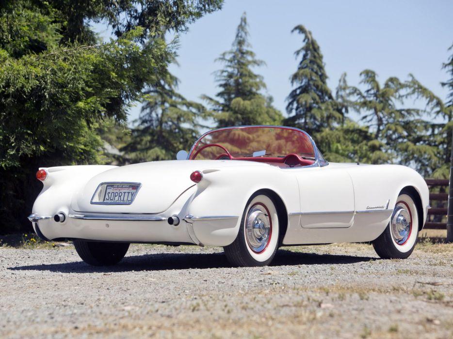 1953 Chevrolet Corvette C1 retro supercar supercars muscle wallpaper