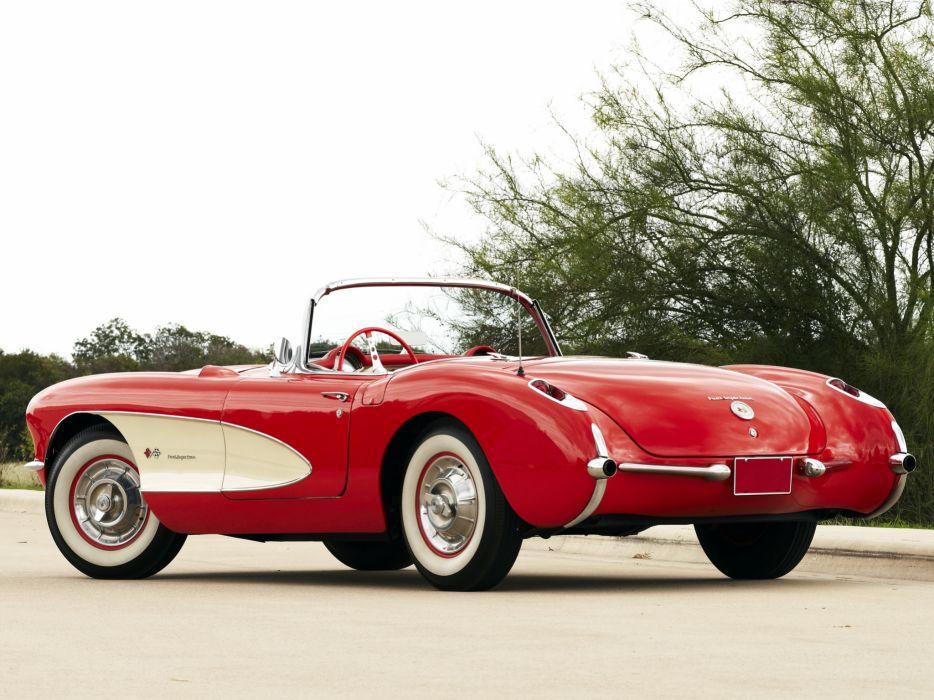 1957 Chevrolet Corvette C-1 Fuel Injection retro muscle supercar supercars    f wallpaper