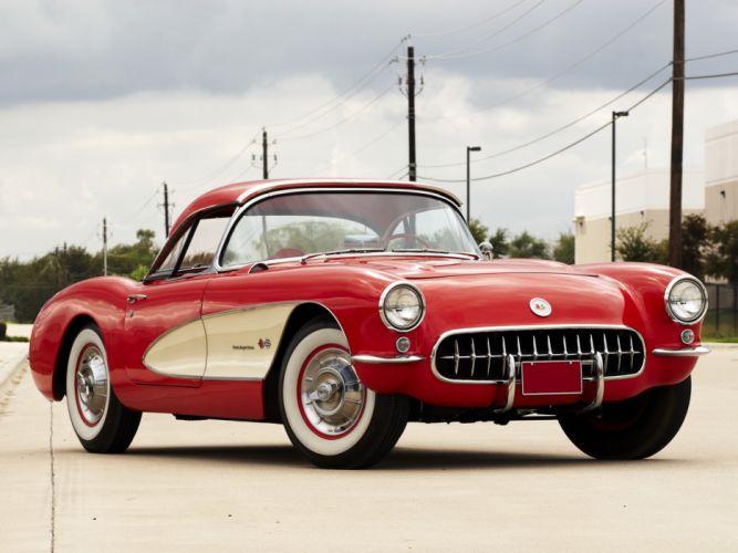 1957 Chevrolet Corvette C-1 Fuel Injection retro muscle supercar supercars fc wallpaper