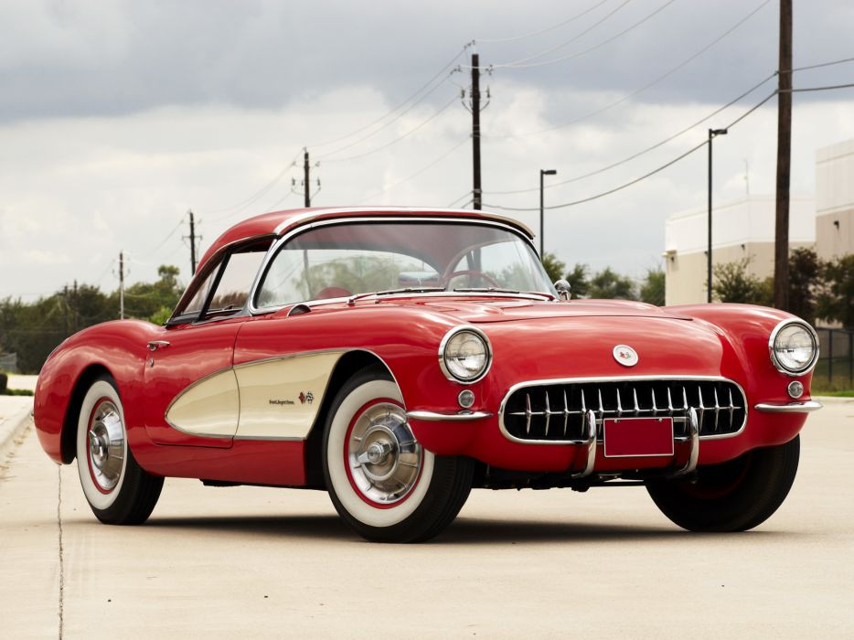 1957 Chevrolet Corvette C-1 Fuel Injection retro muscle supercar supercars    fc wallpaper