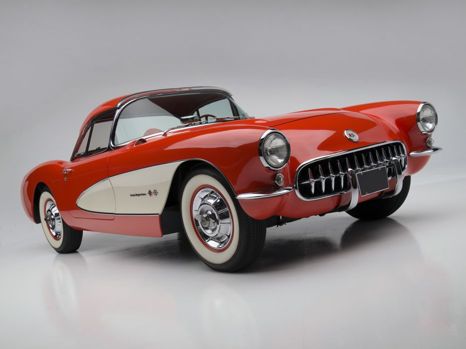 1957 Chevrolet Corvette C-1 Fuel Injection retro muscle supercar supercars  d wallpaper