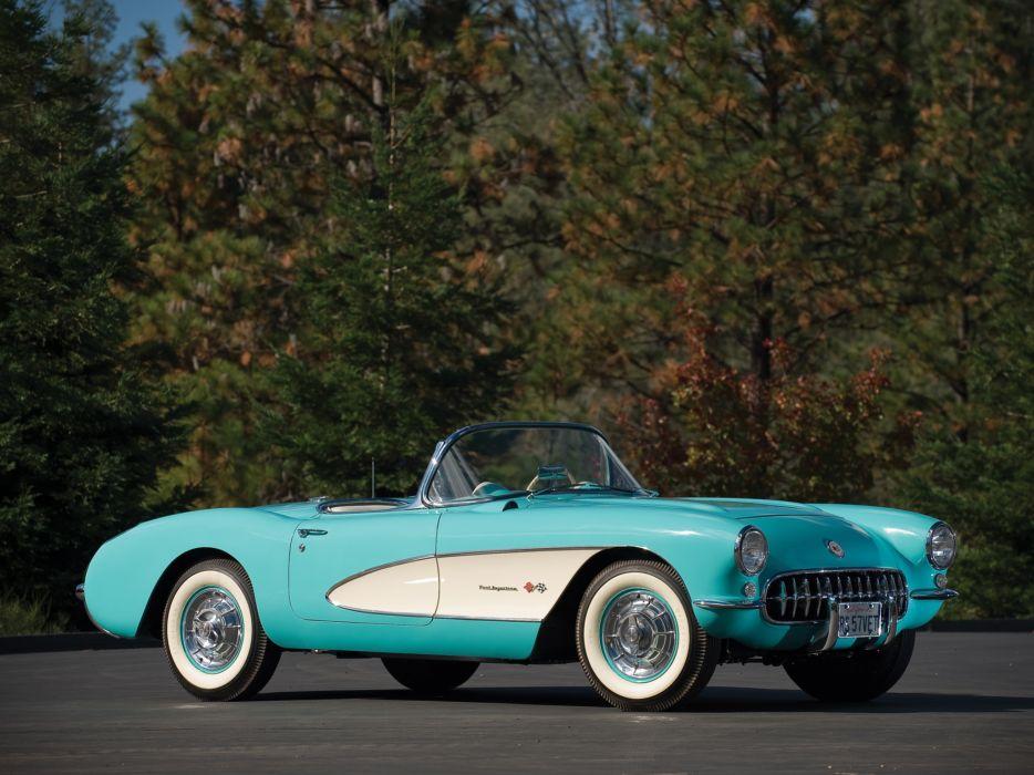 1957 Chevrolet Corvette C-1 Fuel Injection retro muscle supercar supercars  fa wallpaper