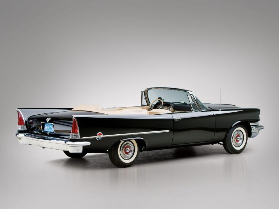 1957 Chrysler 300C Convertible luxury retro wallpaper